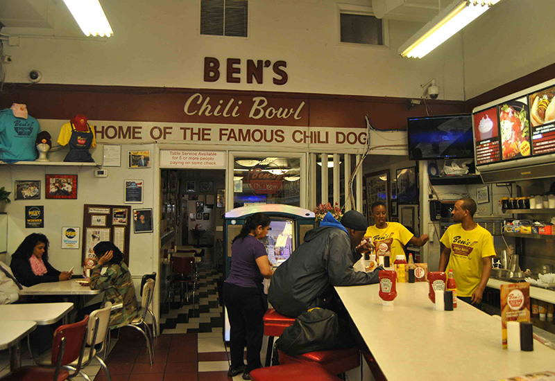 Employees And Customers At Ben S Chili Bowl In