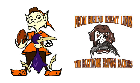 The Baltimore Browns Backers, a Cleveland Browns fan club, have used several logos to display their anti-Ravens pride. Credit: baltimorebrownsbackers.com