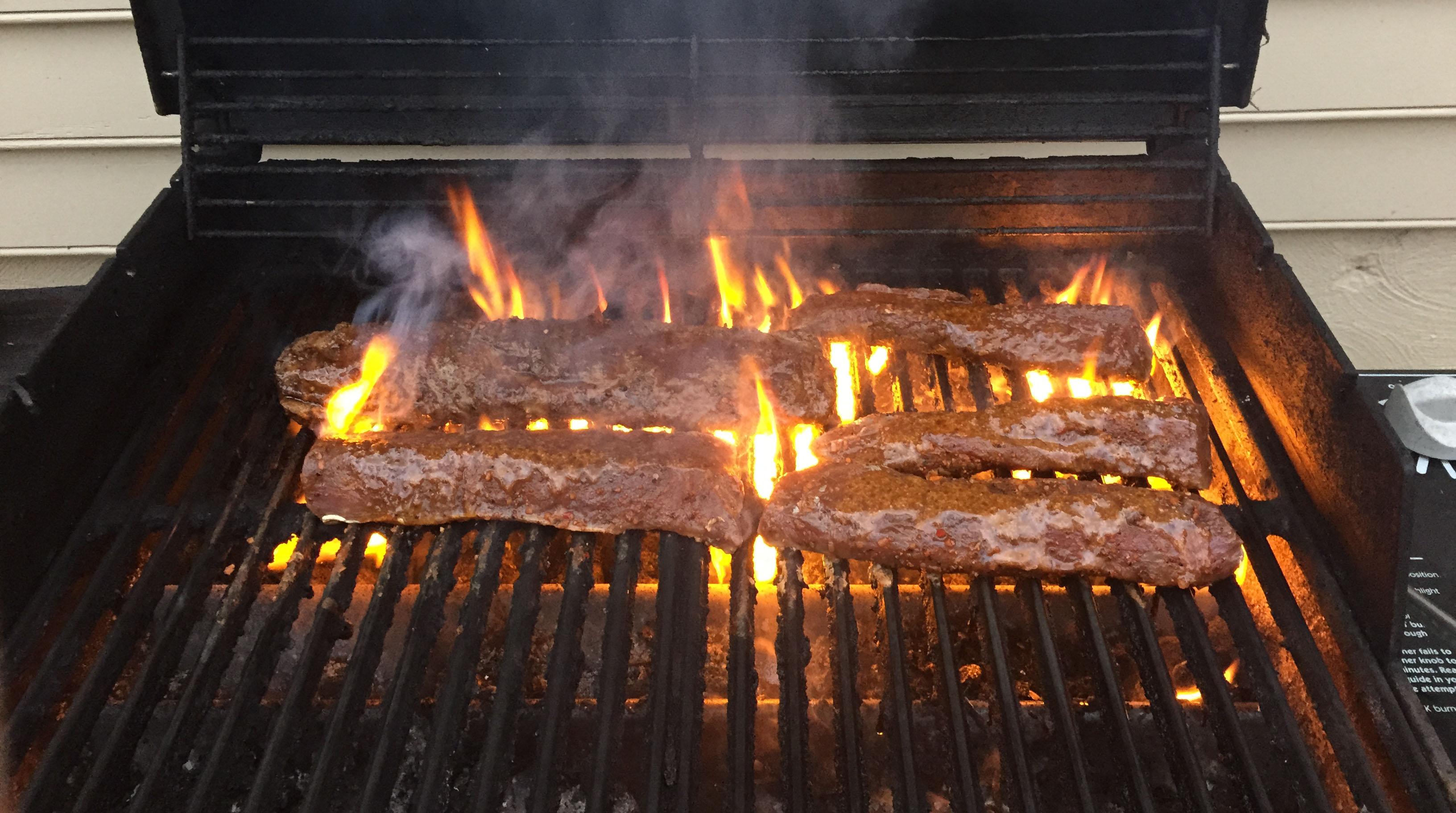 Venison grilling