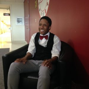 Mykell Hatcher-McLarin, 22, sits in the University of Maryland's student union where he is working to complete his sociology degree. The university, he said, was pretty accepting of him as a transgender individual, but it's not as easy in the real world, especially applying for jobs. Capital News Service photo by Grace Toohey.
