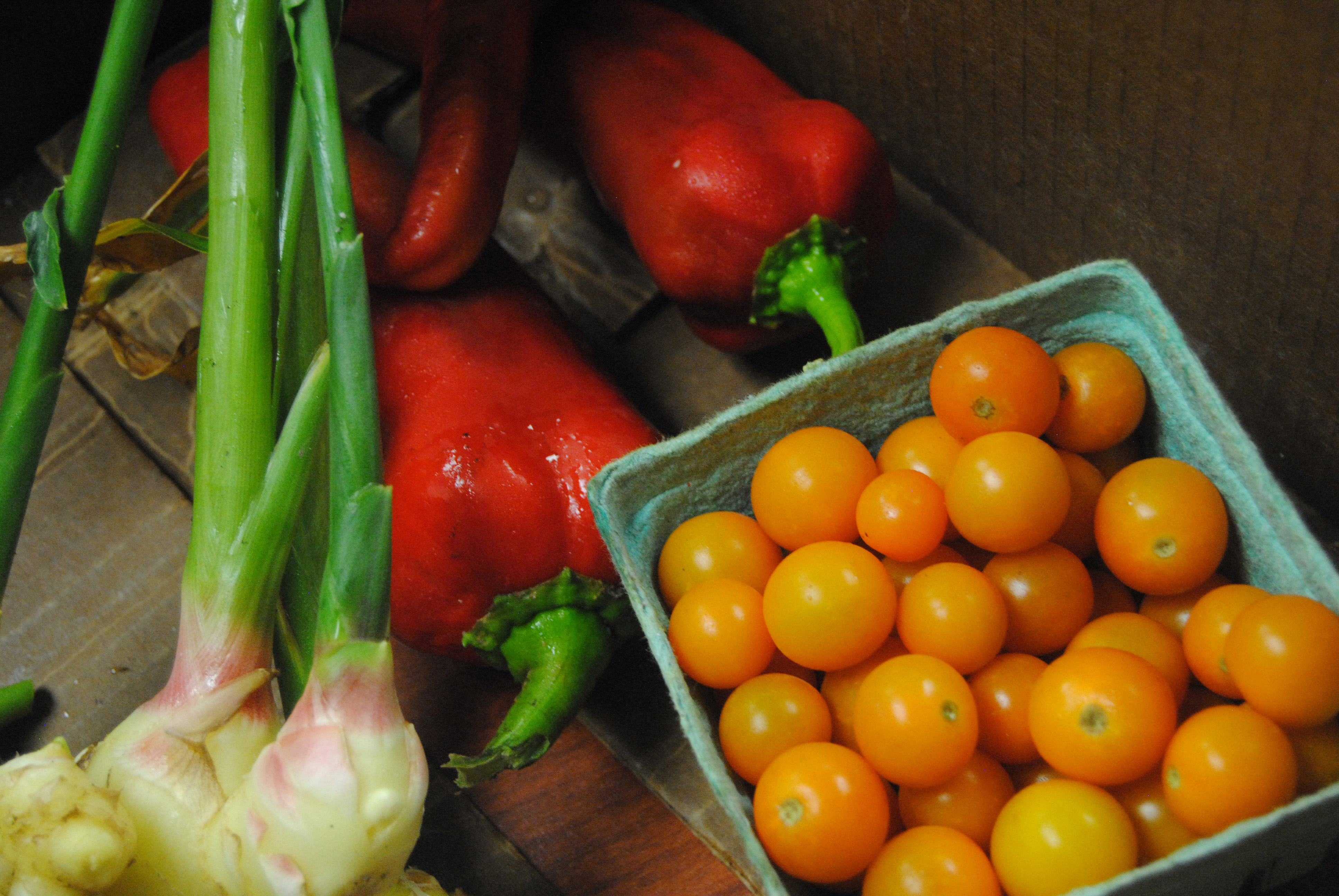 Vegetables from Real Food Farm ready to be picked up by Baltimore City employees, as part of their community-supported agriculture program on Sept. 10, 2015. (Capital News Service/Julie Gallagher)