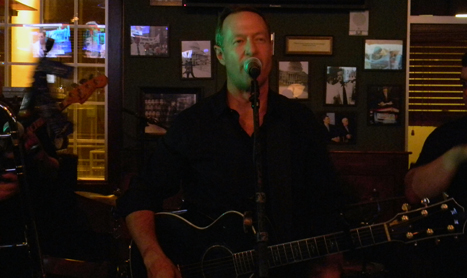 Gov. Martin O'Malley performs with his band, O'Malley's March, at a bar in Charlotte, N.C., in the wee hours Thursday morning.