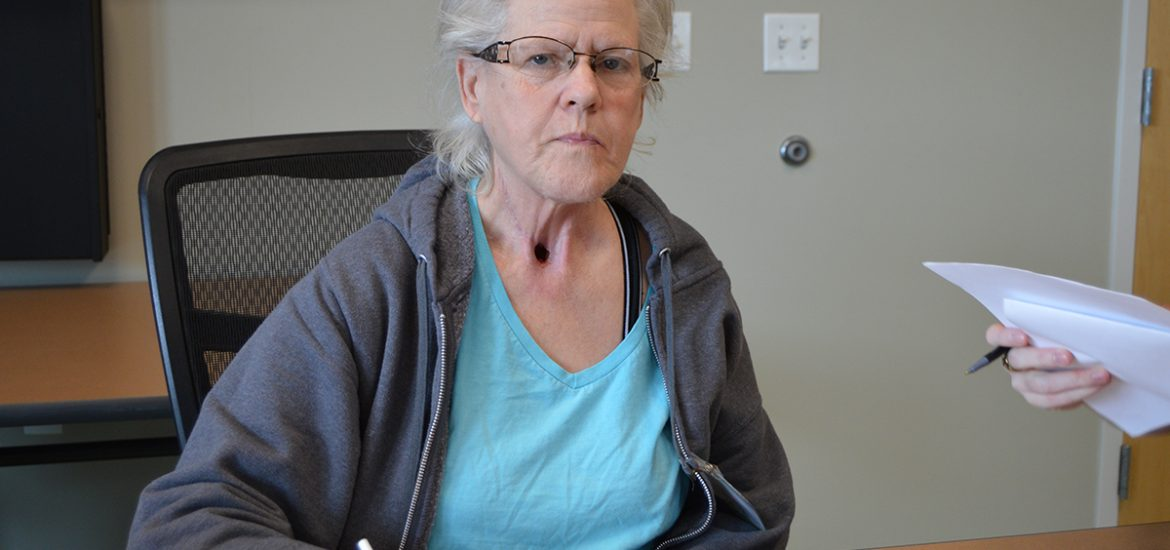 Vonda Wagner, 59, said she was assaulted by the owner of an unlicensed assisted living facility after being involuntarily discharged from a nursing home. She was unable to pay the home's fees after her temporary Medicare benefits expired. (Capital News Service photo by Rob Wells)