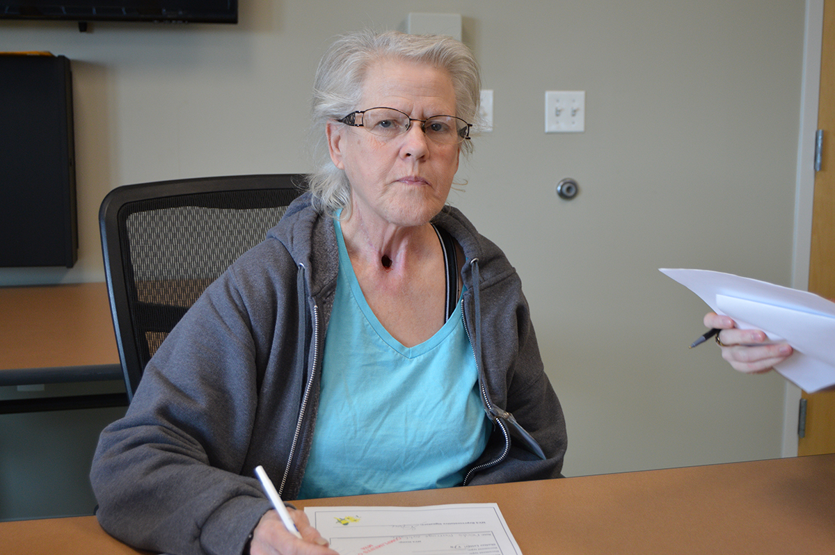 Vonda Wagner, 59, said she was assaulted by the owner of an unlicensed assisted living facility after being involuntarily discharged from a nursing home. She was unable to pay the home's fees after her temporary Medicare benefits expired. (Capital News Service photo)
