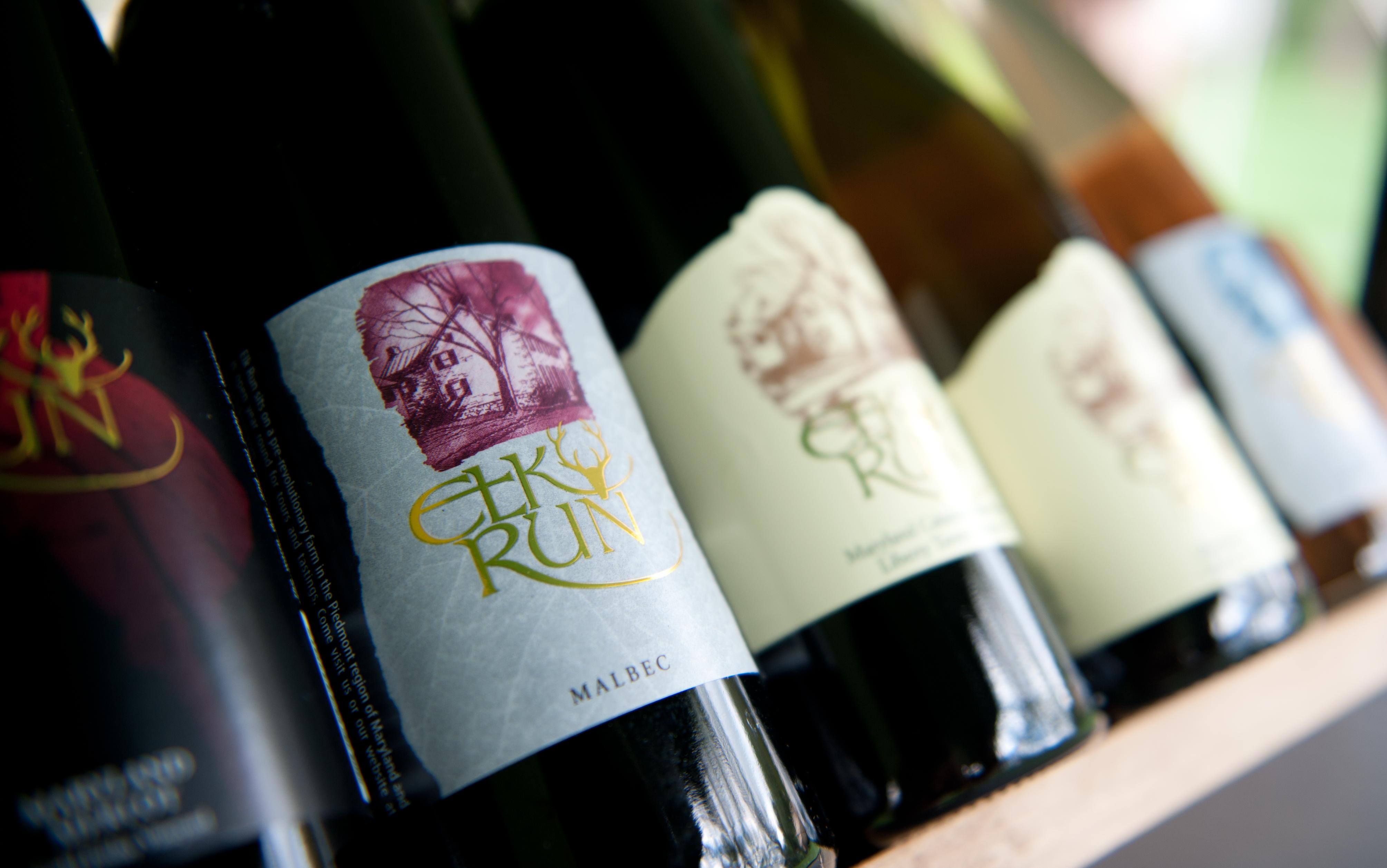 Wines from Elk Run Winery.