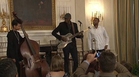 First Lady Michelle Obama hosts Celebration of Song Workshop