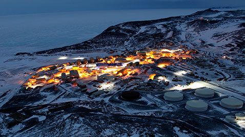 The McMurdo Station in the Antarctic.