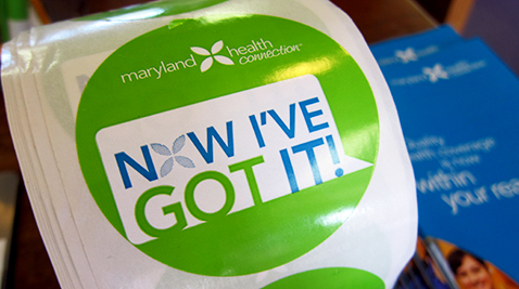Maryland Health Connection sticker