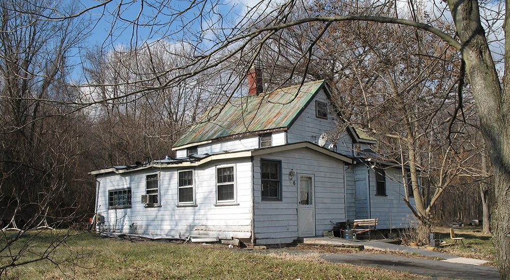 The Jones-Hall-Sims house sat in Poolesville, Maryland, for over a century where it housed the descendants of freed slaves. Photo courtesy The Montgomery County Planning Department (M-NCPPC), Historic Preservation Office.