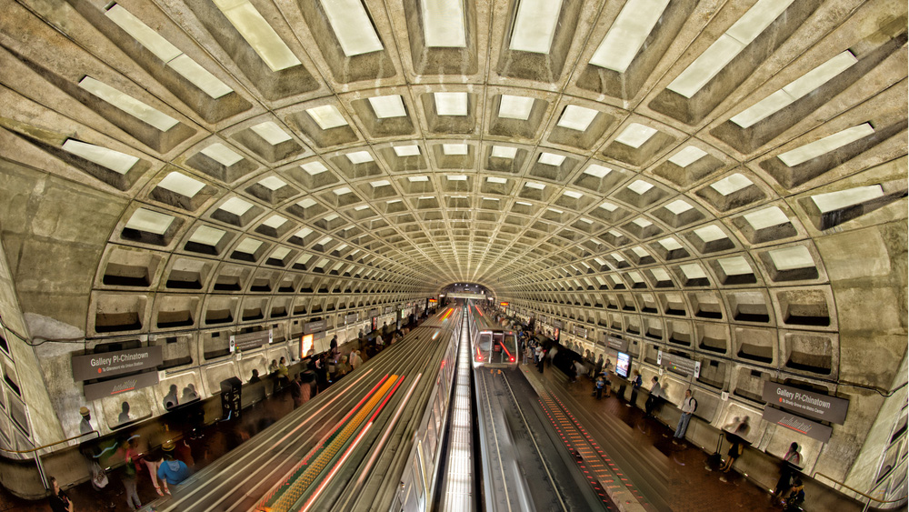 WASHINGTON DC - Passengers wait for a train at the Gallery Place-Chinatown Metro station in May 2013. By Andrea Izzotti / Shutterstock.com