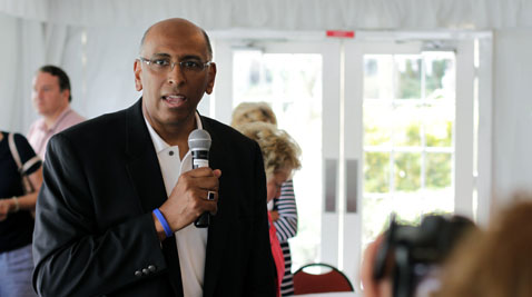 """Former GOP chairman Michael Steele called the views of his MSNBC colleagues """"whack"""" while speaking to Maryland delegates at the Republican National Convention in Tampa. (Photo by Carl Straumsheim/Capital News Service)"""