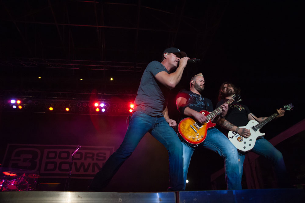 3 Doors Down performs at a casino in California in 2015. They are on the list of musicians set to perform at Trump's inaugural concert. Randy Miramontez / Shutterstock, Inc.