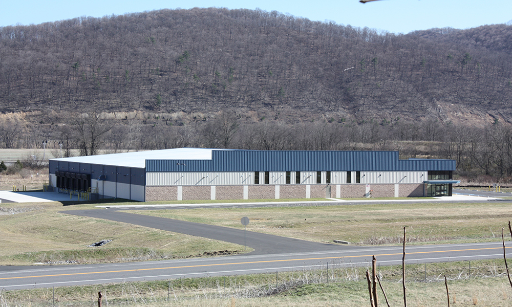 While most of Allegany's business parks are full or close to capacity, the new 40,000 sq. foot shell building in the Barton Business Park has yet to attract a tenant. (Photo by J.F. Meils/Capital News Service)