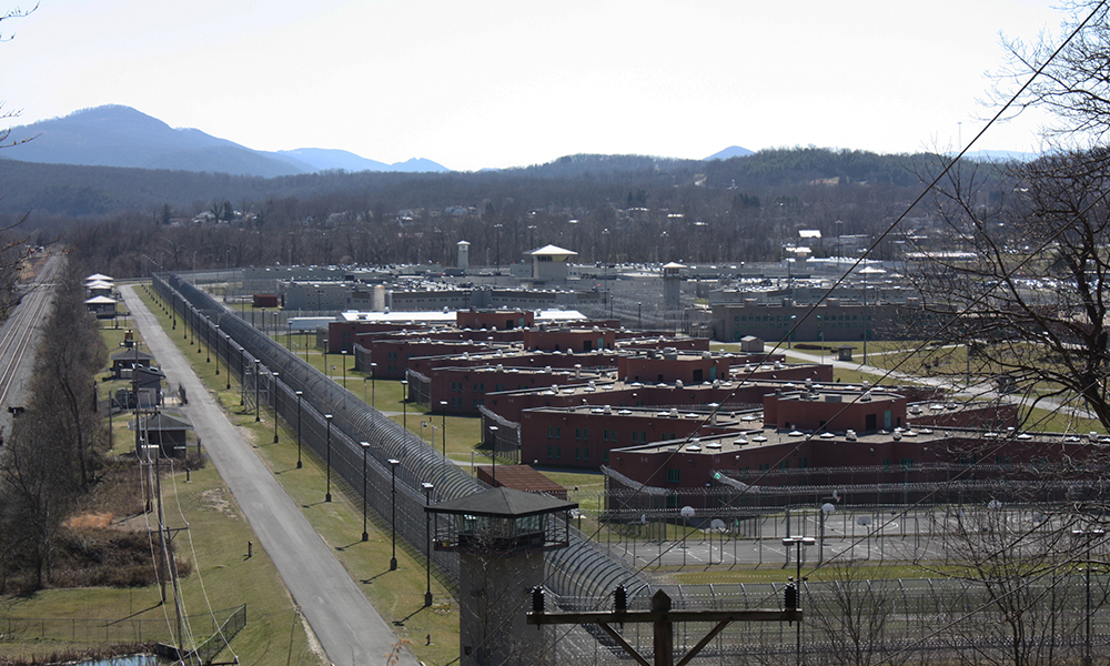 """The Northern Branch and Western prisons sit in a beautiful valley where one of Allegany's former """"whales,"""" Celanese Fiber Company, once lived. (Photo by J.F. Meils/Capital News Service)"""
