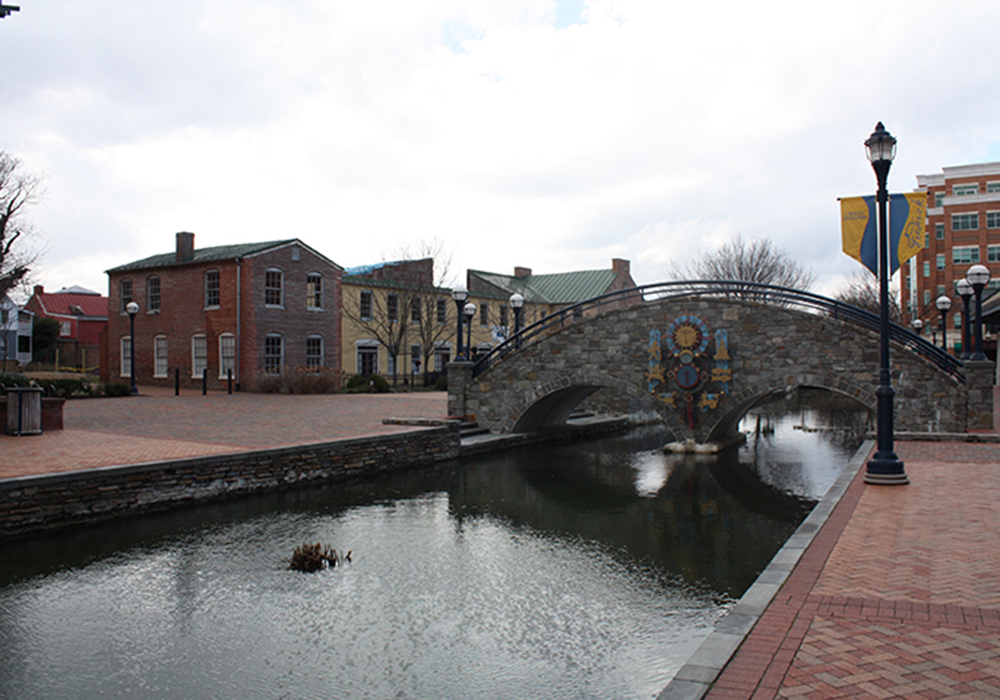 The Carroll Creek area in the city of Frederick was devastated by a flood in 1976, but rebuilt to be the center of the city's historic quarter and a popular attraction for visiting tourists and locals alike. (Photo by J.F. Meils/Capital News Service)