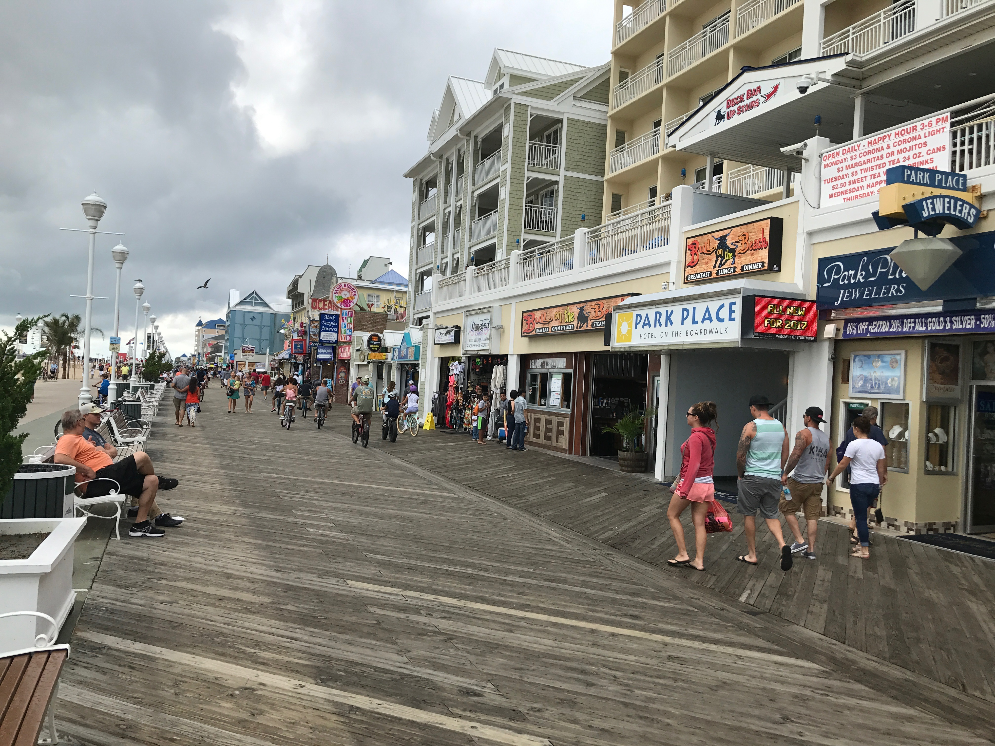 Crowds walking along the boardwalk in Ocean City, Md. on Sunday, September 3, 2017. Local businesses may lose much of their seasonal workforce if the Trump administration cancels the J-1 visa program. (Chris Miller/Capital News Service)