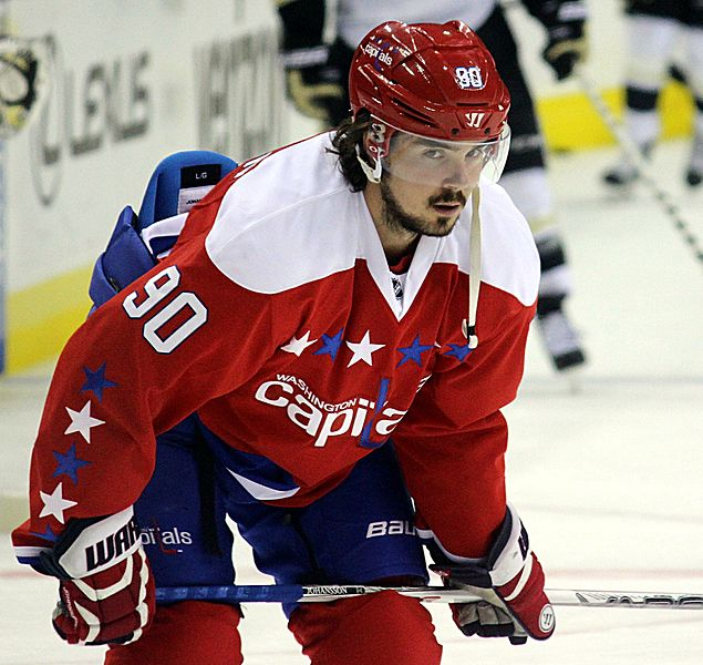 After registering 7.5 Point Shares in 2017, Marcus Johansson was traded by the Capitals in July. Photo courtesy Michael Miller/Wikimedia Commons.