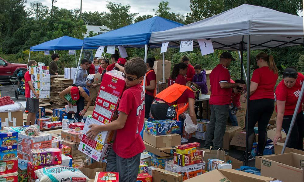 Rockville volunteers sort donations