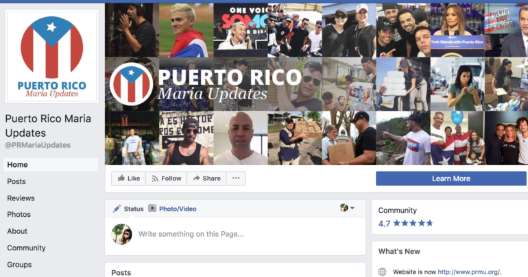 Puerto Rico Maria Updates: How a Facebook community served
