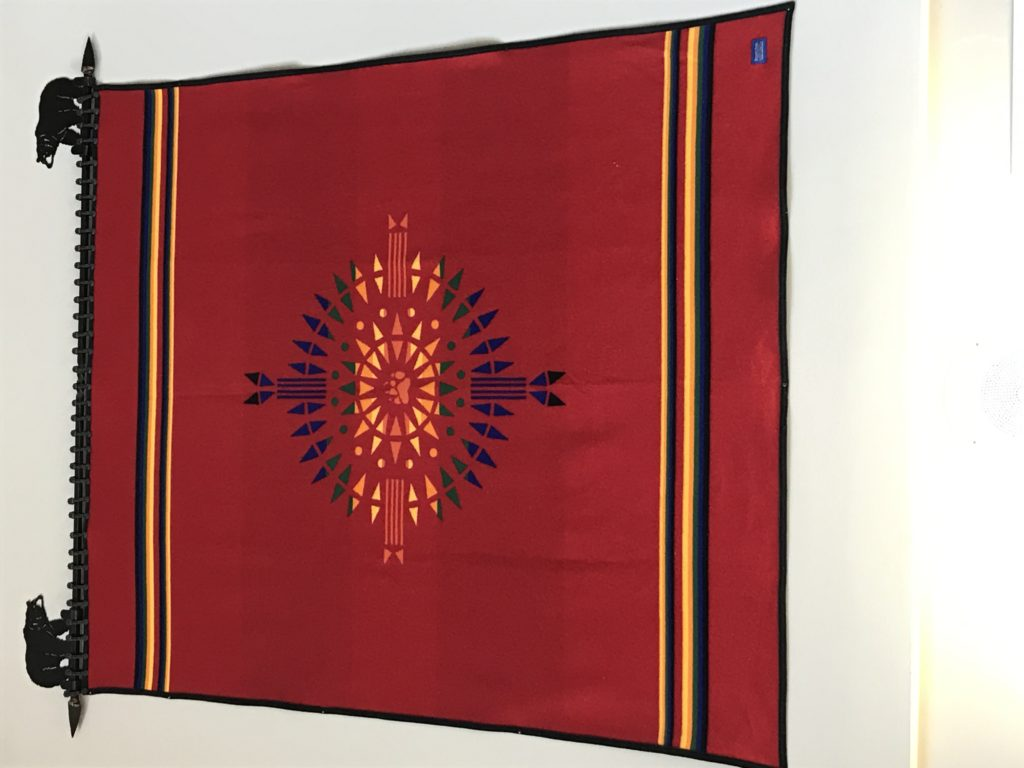 After changing the name of its mascot, Red Lodge High School received this quilt as a gift from the state Office of Public Instruction's Division of Indian Education. Photo courtesy Red Lodge High School.