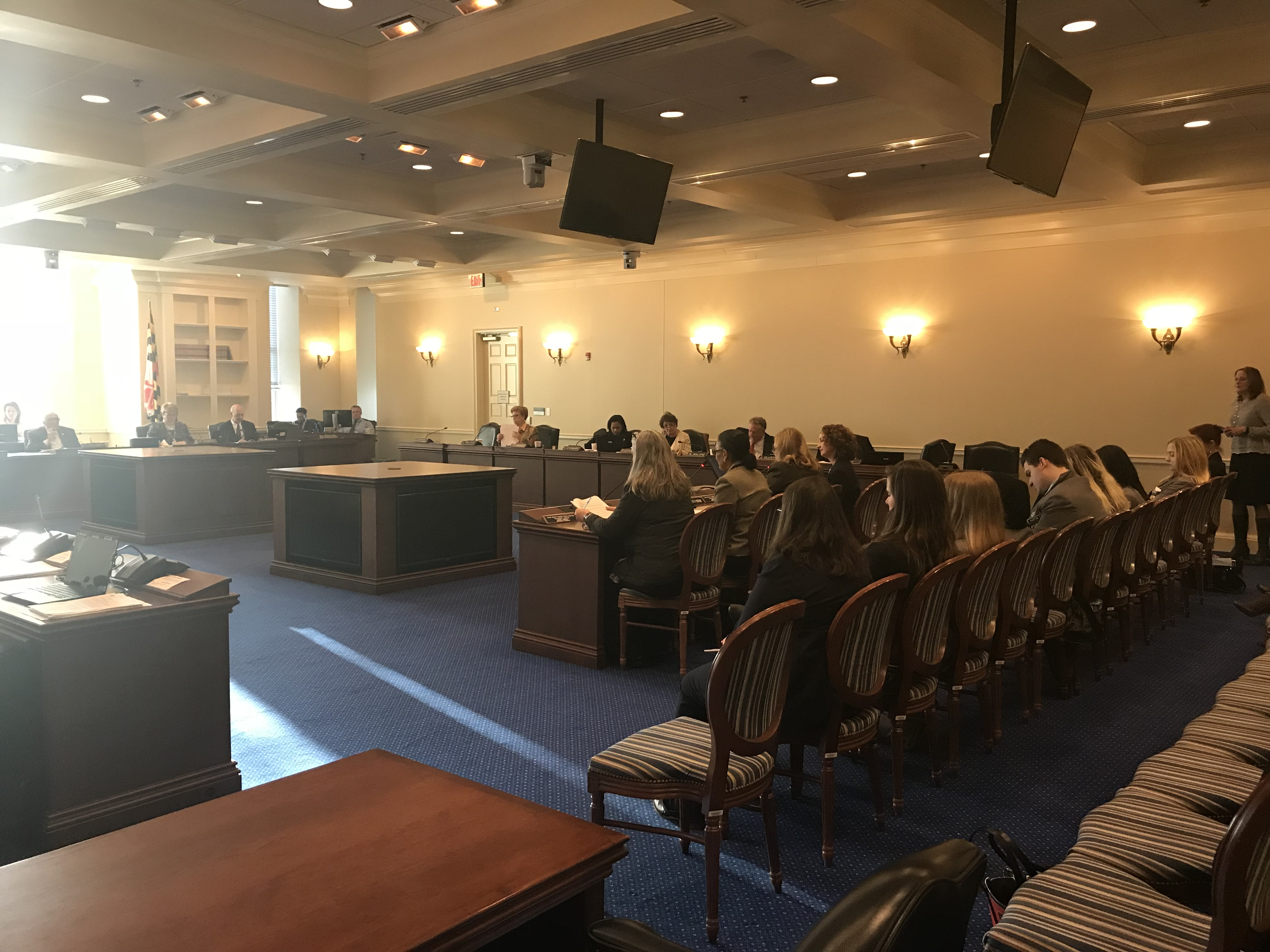 A testimony is made before the House Judiciary Committee on Jan. 18. Capital News Service Photo by Sean Whooley.