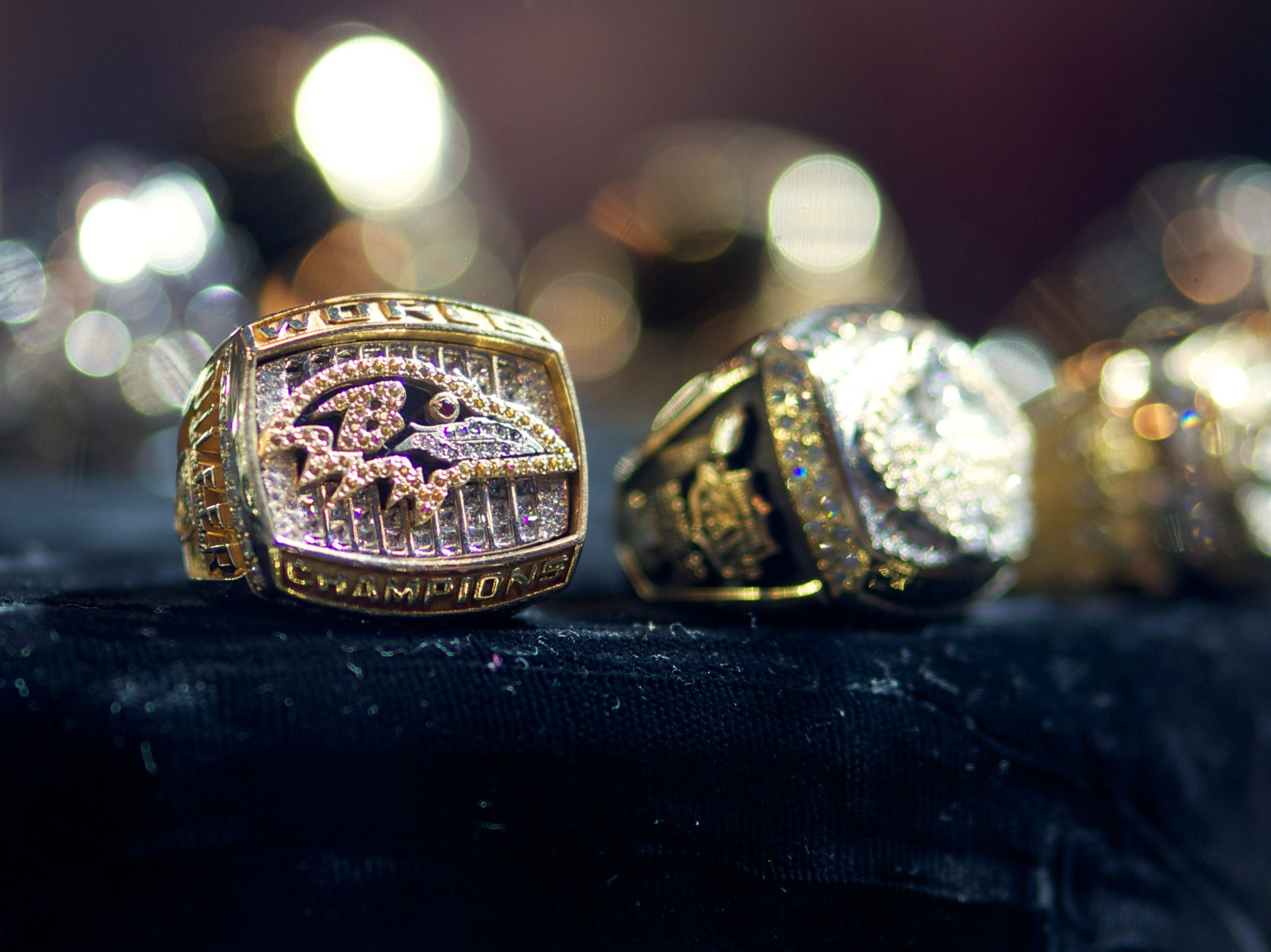 Photo of the Baltimore Ravens first Super Bowl ring, won just five seasons after the team relocated and rebranded from Cleveland. Photo courtesy Austin Kirk/flickr.com