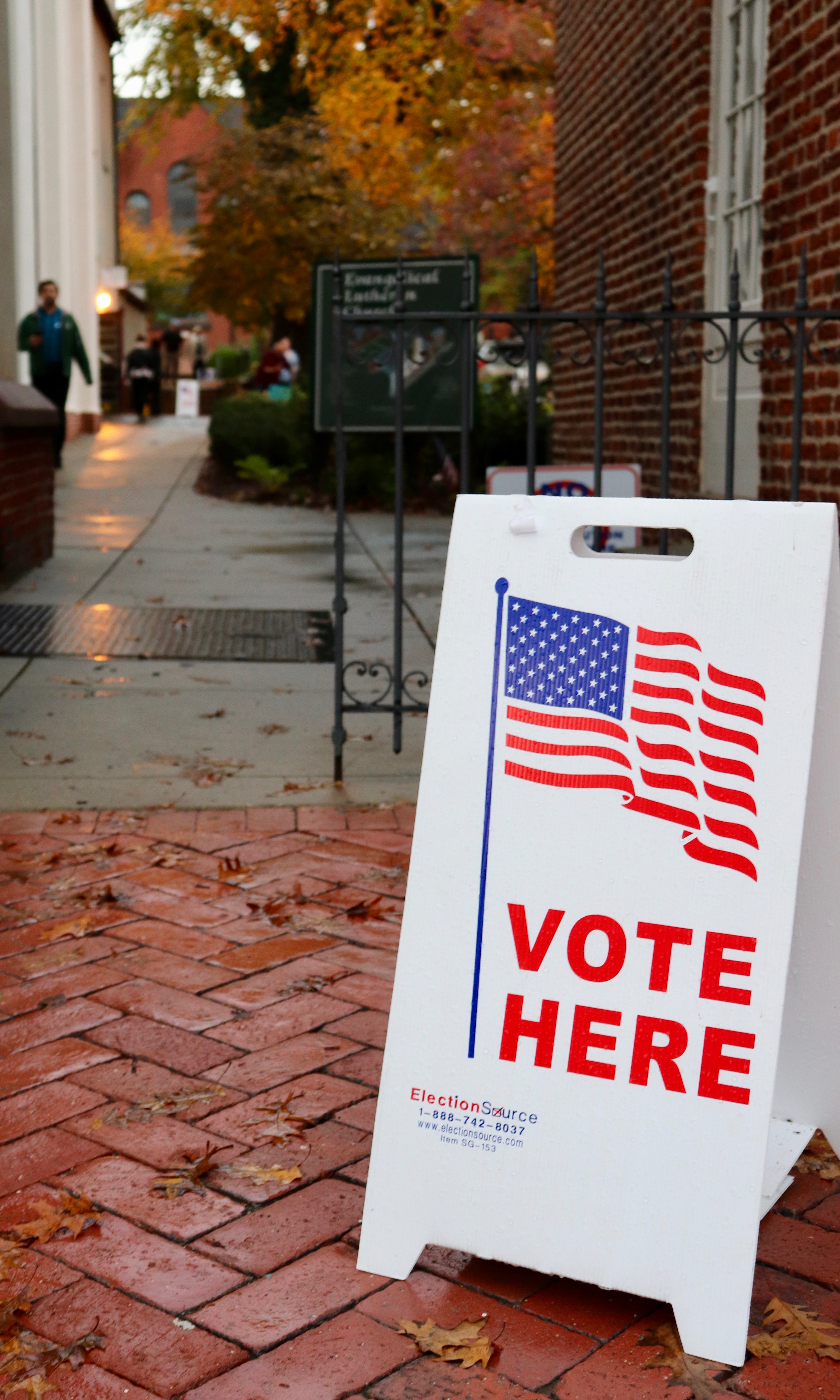 A polling station at the Evangelical Lutheran Church on Tuesday, Nov. 6, 2018 in Frederick Maryland. (Albane Guichard/Capital News Service)