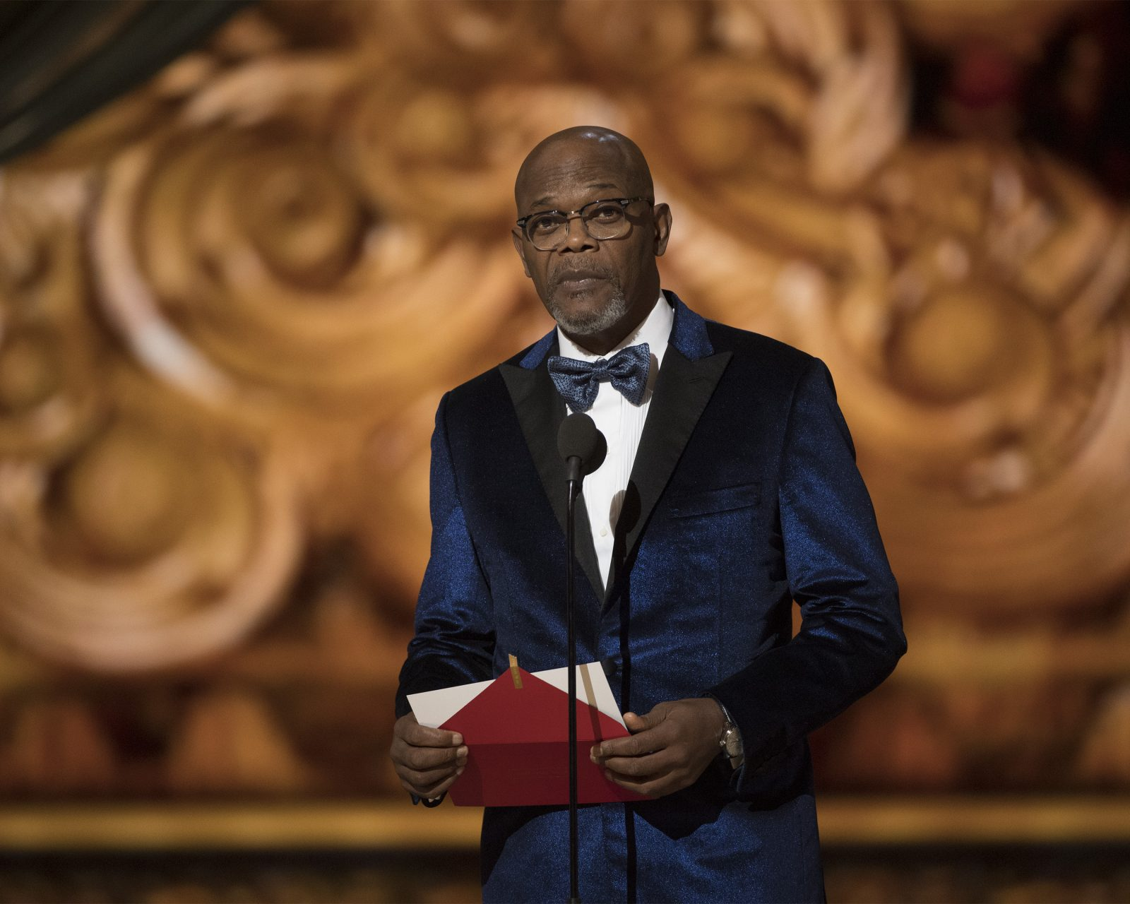 Samuel L. Jackson at the 89th Oscars. Photo Credit: (ABC/Eddy Chen)