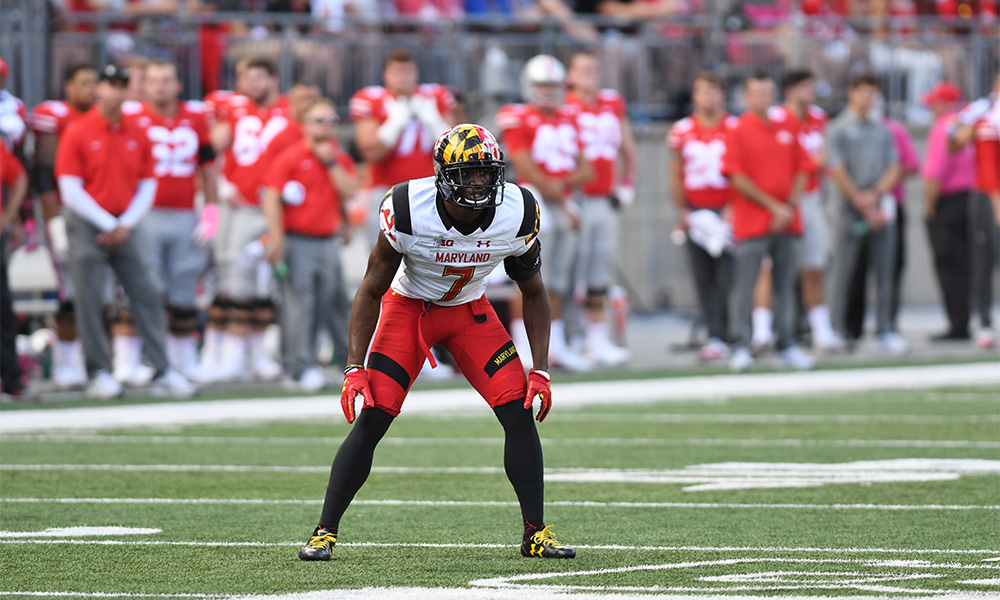 JC Jackson during his senior year at Maryland in 2017. Jackson went undrafted and is now a starter for the Patriots. (Photo Credit: Maryland Athletics)