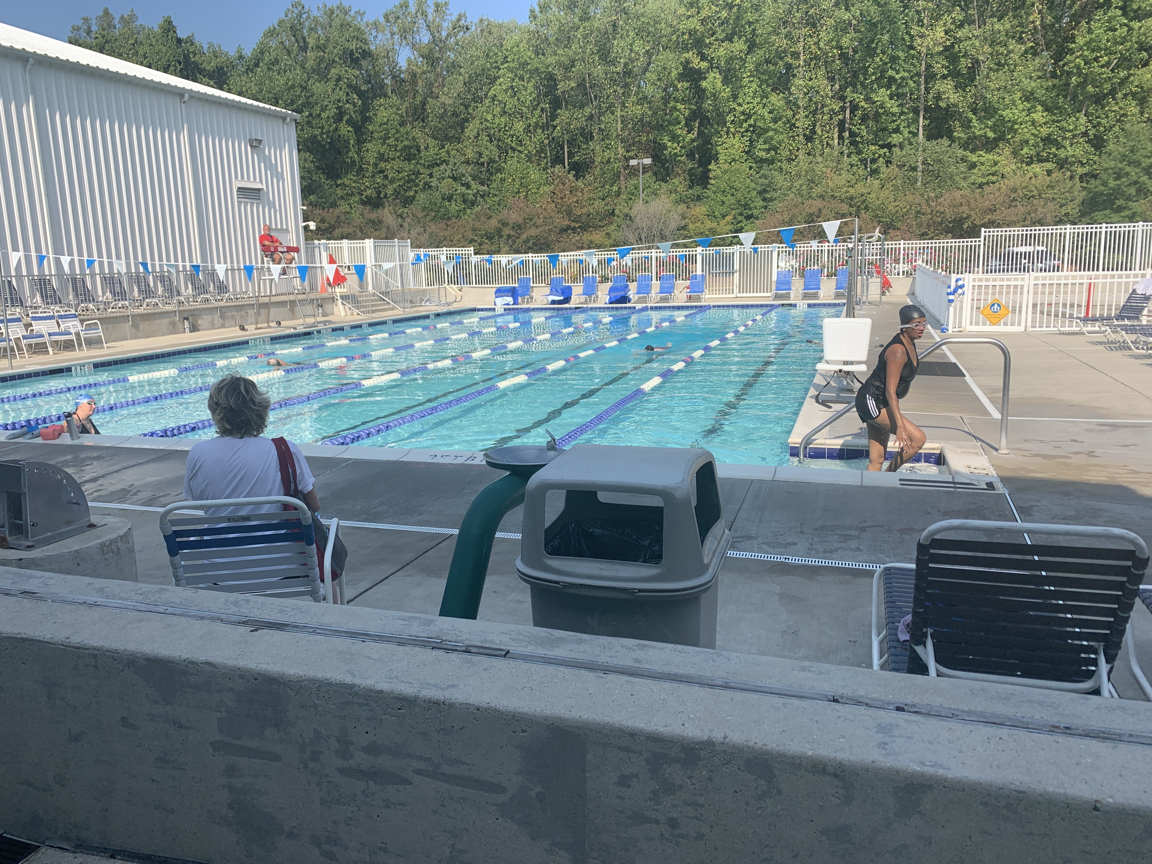 A pool still open in October in Arnold, Maryland.