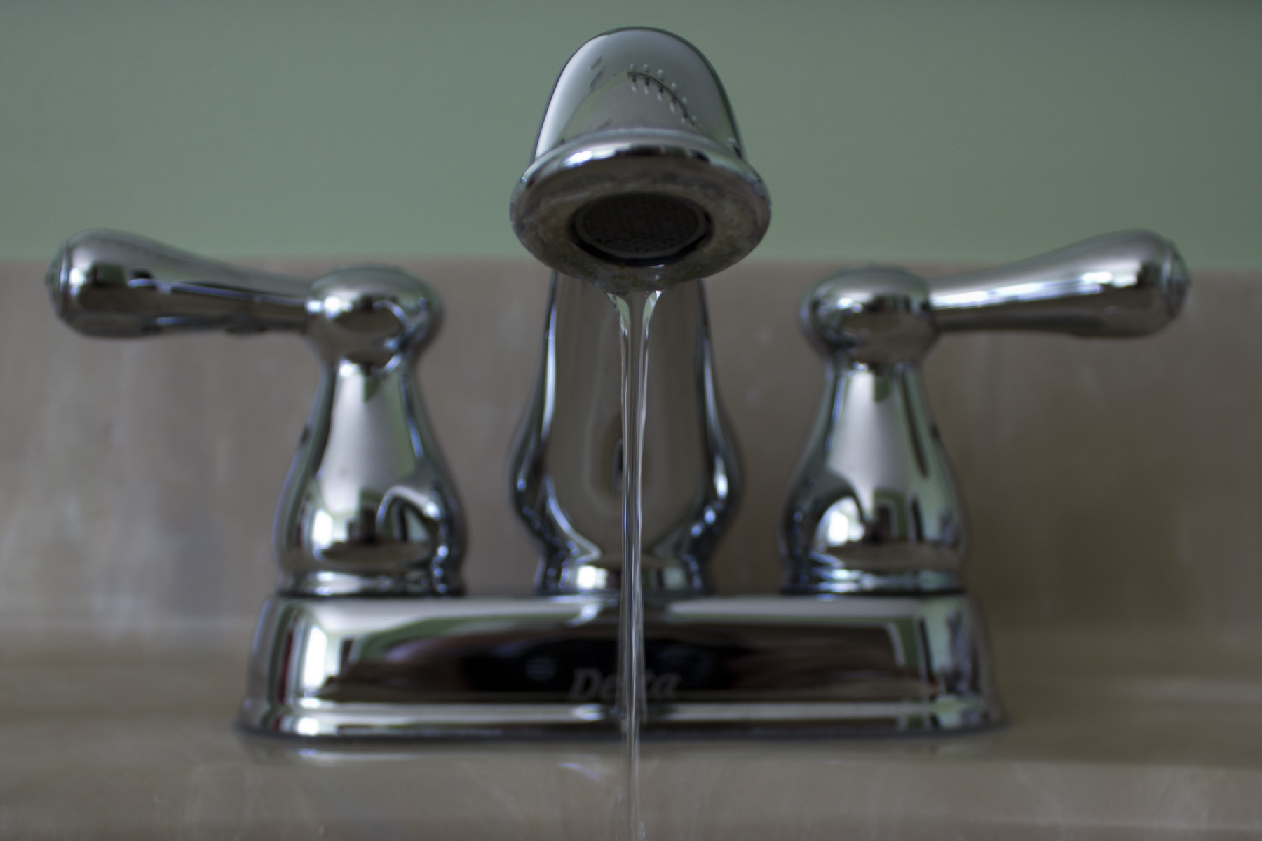 Faucet with tap water