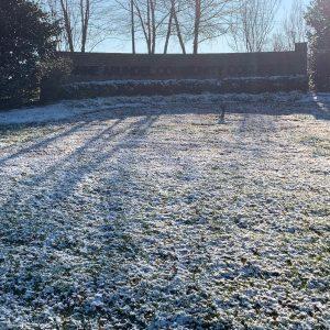 Slight snowfall at Anne Arundel Community College
