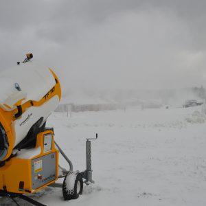 Snow machine on Sunset Boulevard Trail