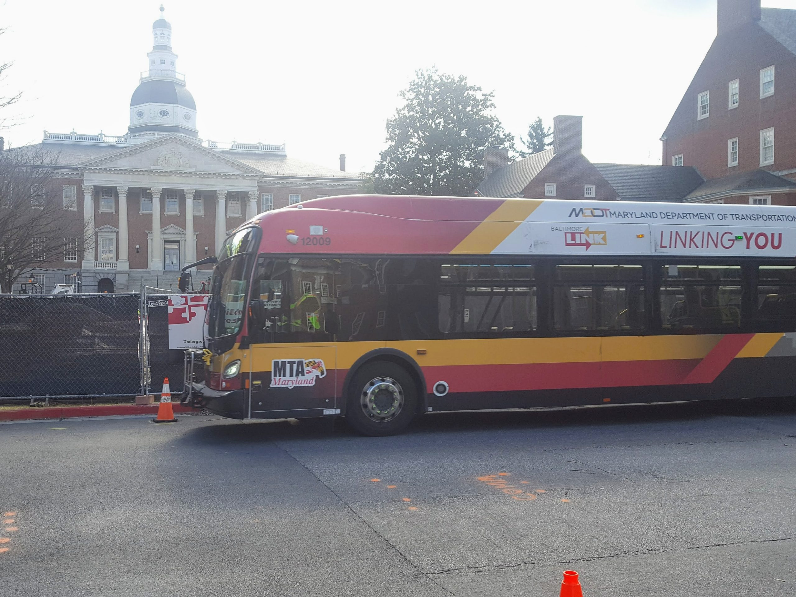 A MTA run bus in Annapolis, Maryland.