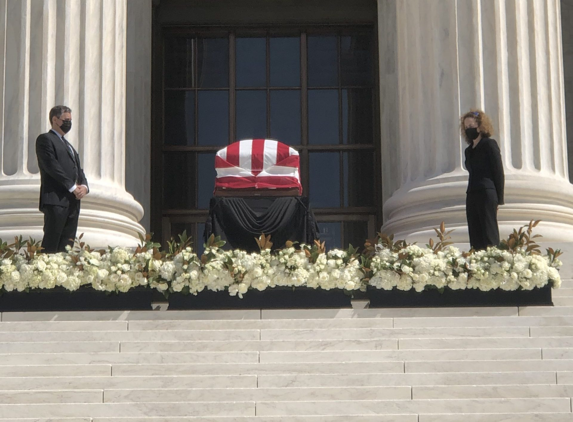 Ginsburgs casket lies in repose before the Supreme Court, Wednesday