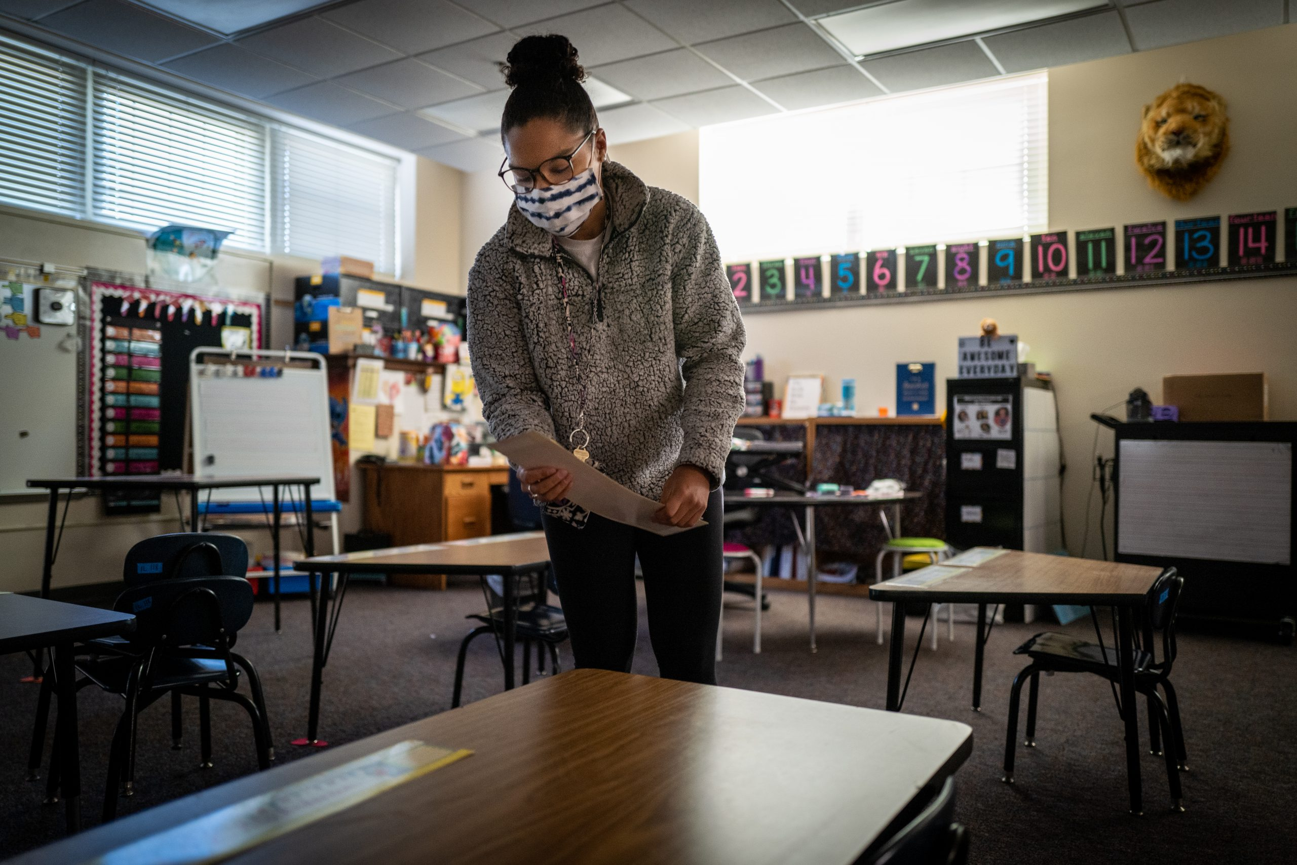 """In Des Moines, it was been 220 days since students were in a """"normal"""" classroom. That starts to change, a little bit, when the school district begins a hybrid learning model at elementary schools with students who choose to do so attending 2-3 days per week. I dropped by a few schools today as teachers and staff were making final preparations."""
