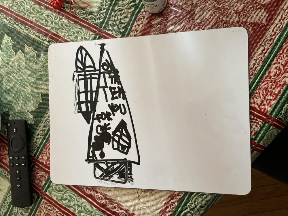 In her free time, Rosa, the Brown's foster care child, likes to draw.
