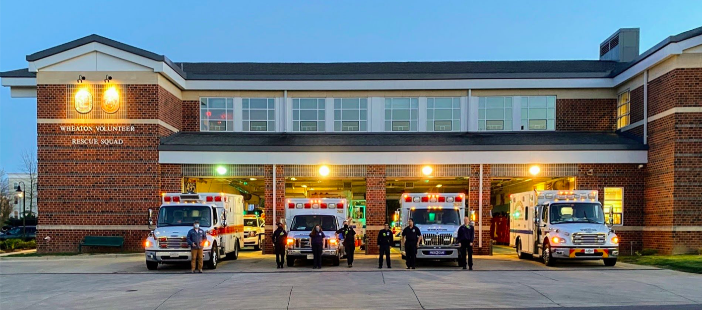 Wheaton Volunteer Rescue Squad station, located in Montgomery County, Md. Photo courtesy of Wheaton Volunteer Rescue Squad. Photo taken by Catrina Johnson.