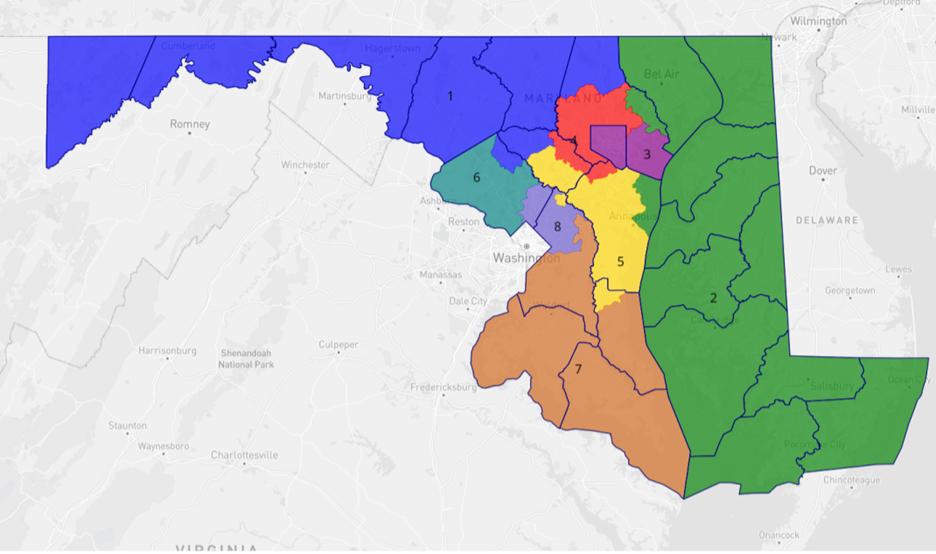 Congressional map prepared by Bradley Heard.