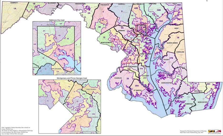 Maryland's legislative district map, established in 2012. (Maryland Department of Planning)